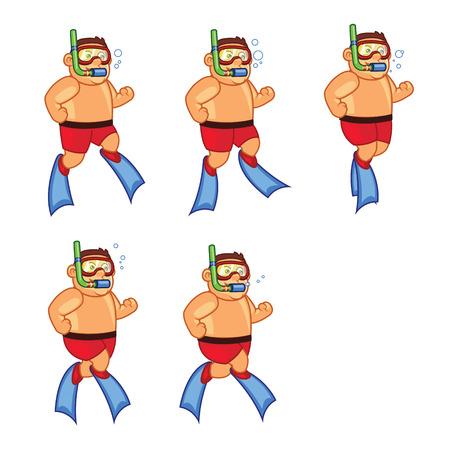 sprite: Scuba Diver Boy Game Sprite