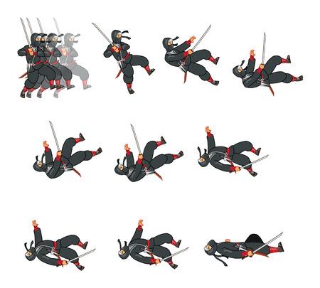 Dying Ninja Game Sprite