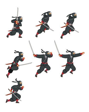 Jumping Ninja Game Sprite