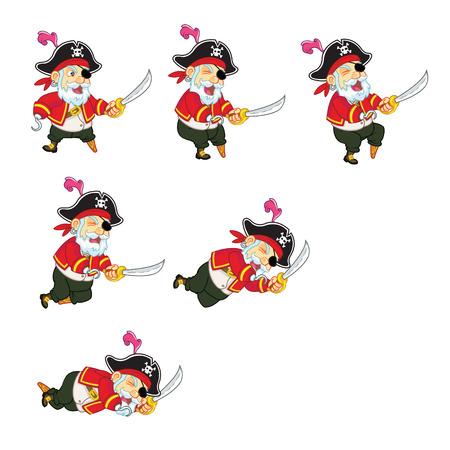 sprite: Viejo pirata Sprite Dying