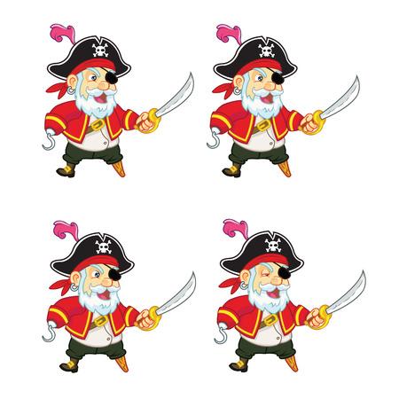 holgaz�n: Viejo pirata Sprite Idle