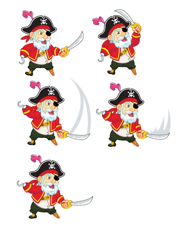 attacking: Old Pirate Attacking