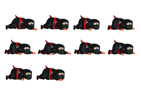 sprite: Fat Ninja Crouching Sprite