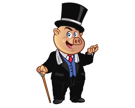 mayor: Rich Pig Cartoon Mascot