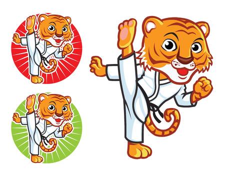 karate: Karate Tiger Mascot