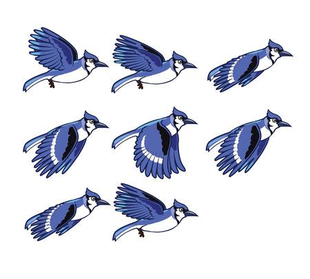 Blue Jay Flying Sprite
