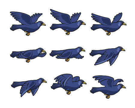 Crow Flying Sprite