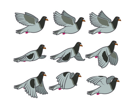 pigeons: Dove Flying Sprite