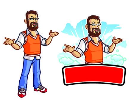 masculino: Nerd Mascot