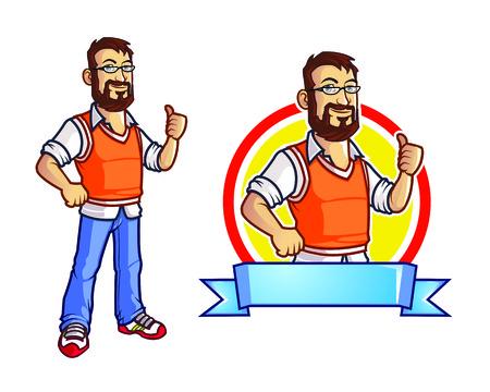 logo informatique: Bearded Geek