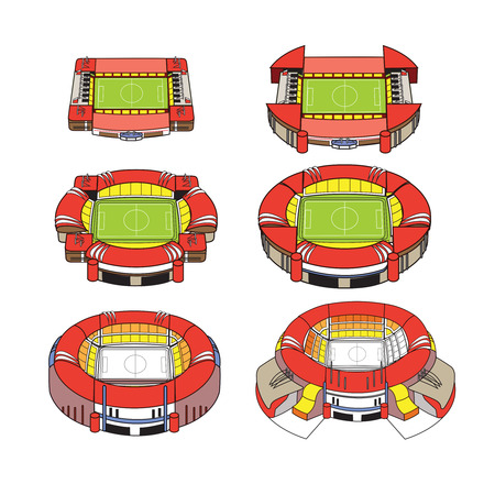 soccer stadium: Modern Stadium Illustration