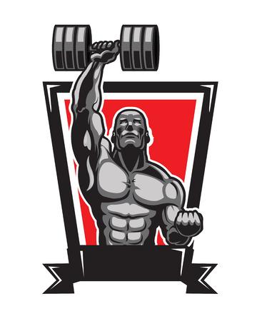Body Builder Logo Illustration