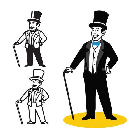 hombre con sombrero: caballero de la historieta