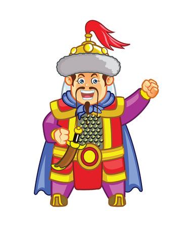 khan: Genghis Khan Cute Mascot