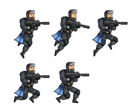 sprite: Navy Seal Jumping Sprite