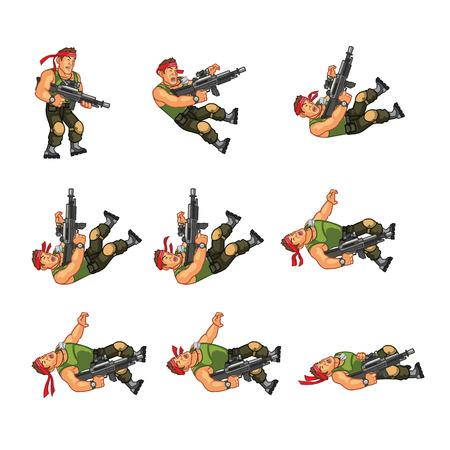 sprite: Commando Game Sprite
