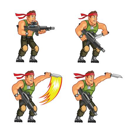 sprite: Commando Juego Sprite