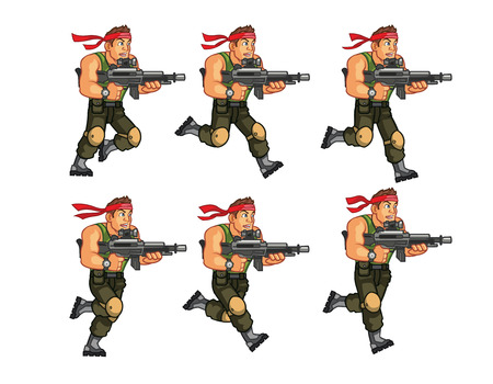 game gun: Commando Game Sprite