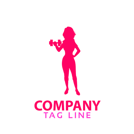 heathy: Female fitness Logo
