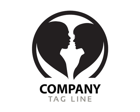 interracial: Interracial Love Logo Illustration