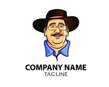anciano: Viejo Jefe Logo Icono Gráfico