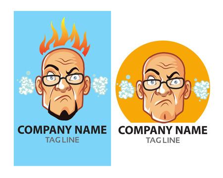 mad: Mad Bald Guy vector