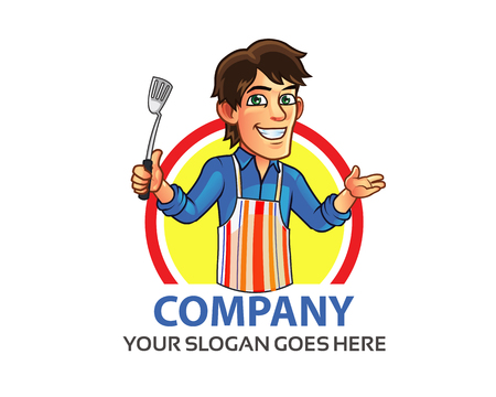 Cooking Man Logo Illustration