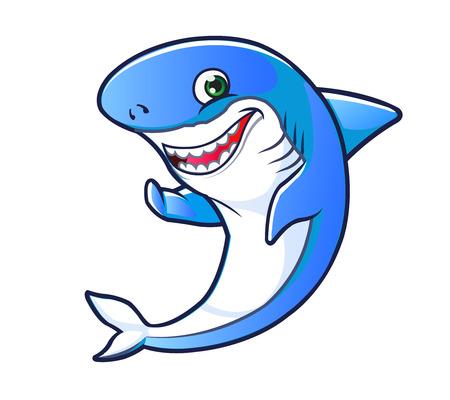 aquatic life: Shark Cartoon