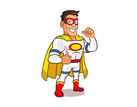 White Superhero Illustration