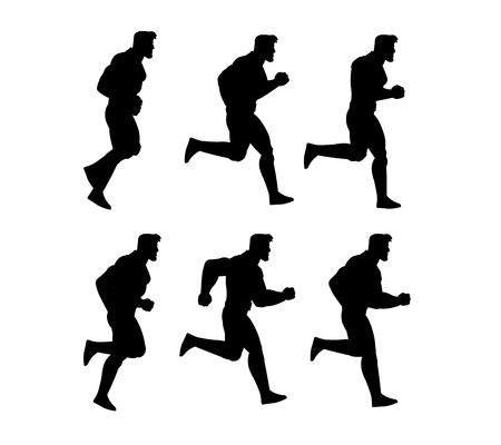 sprite: Running Man Animation Sprite Illustration