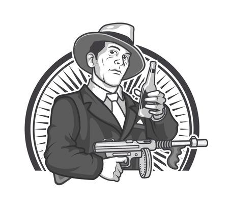 Gangster Beer Graphics Logo