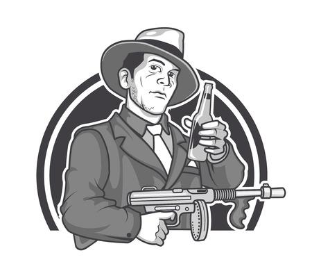 Mobster Beer Logo Graphics