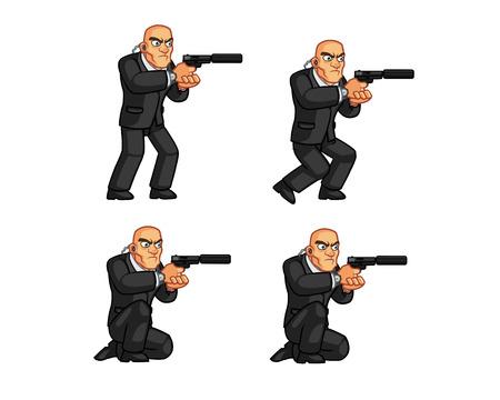 crouching: Body Guard Crouching Animation