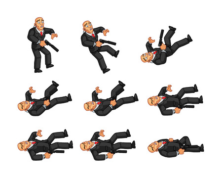 body guard: Body Guard Dying Animation Illustration