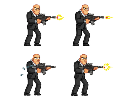 assassin: Body Guard Gun Shooting Animation