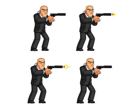 assassin: Body Guard Pistol Shooting Animation