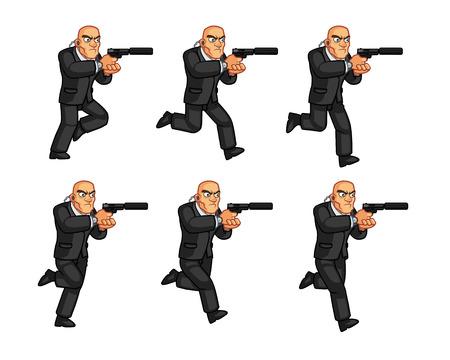 assassin: Body Guard Running Animation