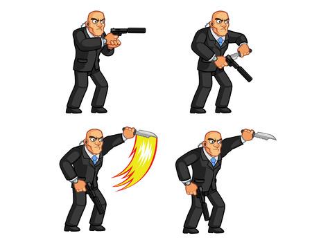 assassin: Body Guard Stabbing Knife Animation