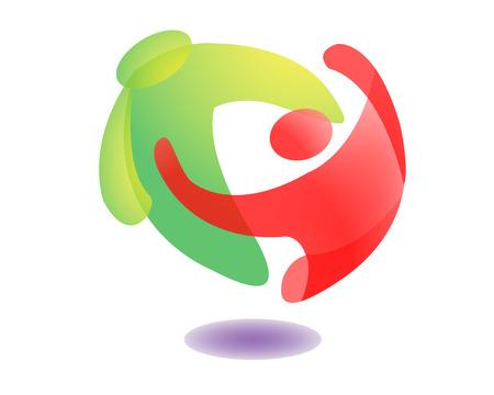 people icon: People Hug Logo Icon