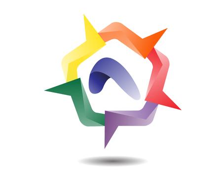 Pentagon Shape Logo template