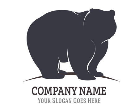 bear silhouette: Bear Silhouette Logo Icon Template Illustration