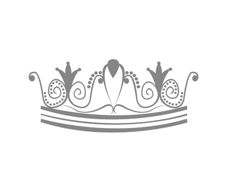 crown logo: Tiara Crown Logo Illustration