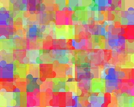 digital background: Digital Colorful Puzzle Background