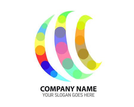 Modern Digital Creative Rainbow Concept Logo Icon