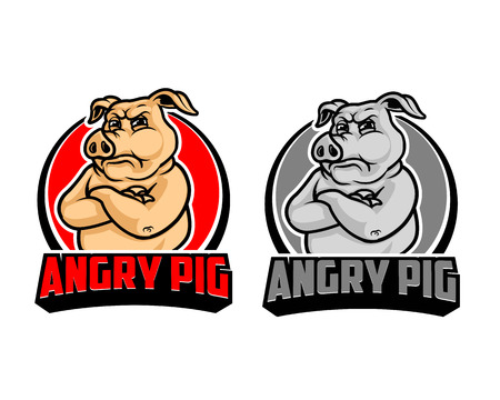 Angry Pig Cartoon icon