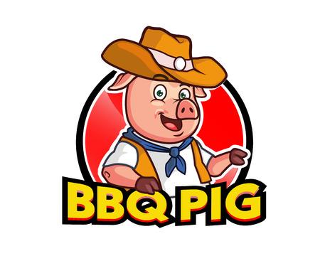 Barbecue Pig Cartoon