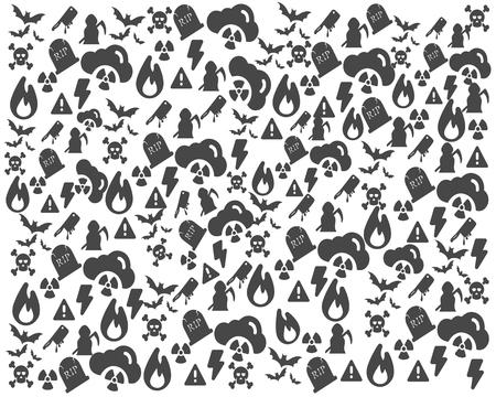 Halloween Pattern Background Illustration