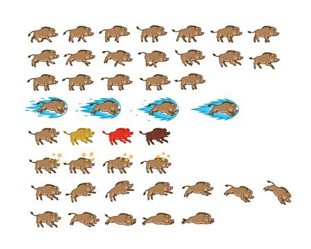 Warthog Game Animation Sprite