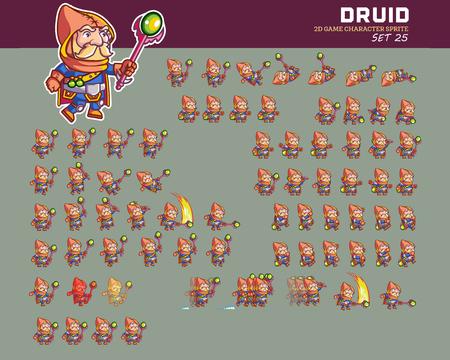 Druid Cartoon Game Animation Sprite