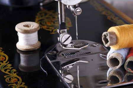 alterations: vintage the sewing machine close up